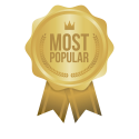most-popular-gold-sign-round-label-vector